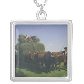 Haymaking, Auvergne Silver Plated Necklace