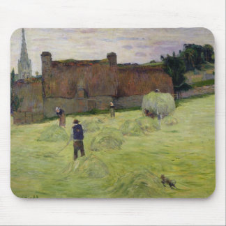 Haymaking in Brittany, 1888 Mouse Pad