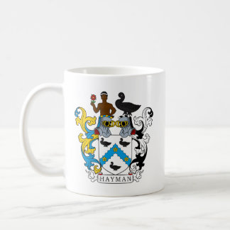 Hayman Family Crest Classic White Coffee Mug