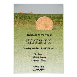 """Hayride Invitation 5"""" X 7"""" Invitation Card"""