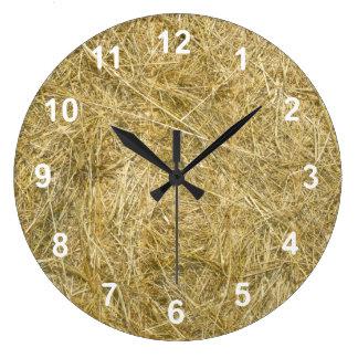 Hayride Large Clock