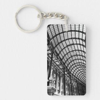 Hay's Galleria London Double-Sided Rectangular Acrylic Keychain
