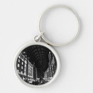 Hays Galleria London Silver-Colored Round Keychain