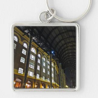 Hays Galleria London Silver-Colored Square Keychain