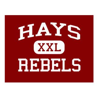 Hays - Rebels - Hays High School - Buda Texas Postcard
