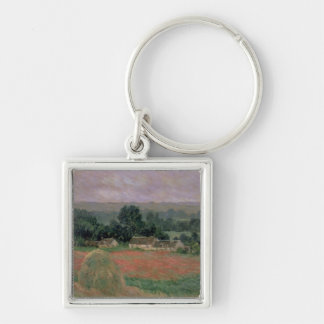 Haystack at Giverny, 1886 Keychain