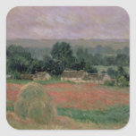 Haystack at Giverny, 1886 Square Sticker