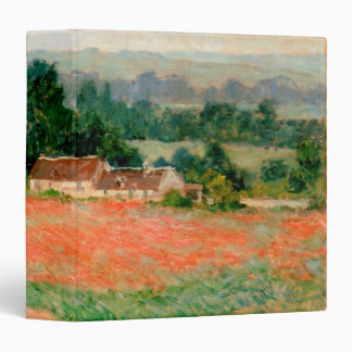 Haystack at Giverny, Claude Monet 3 Ring Binder