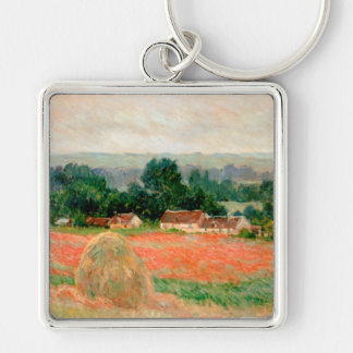 Haystack at Giverny, Claude Monet Keychains