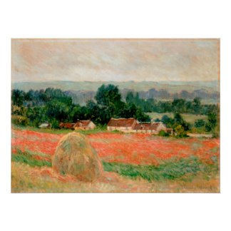 Haystack at Giverny, Claude Monet Poster