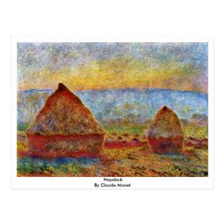 Haystack By Claude Monet Postcard