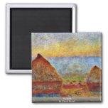 Haystack de Claude Monet Imán