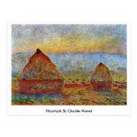 Haystack de Claude Monet Postales