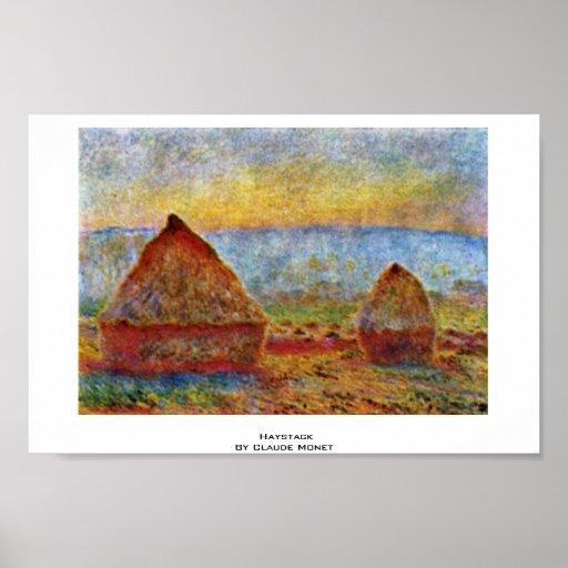 Haystack de Claude Monet Posters