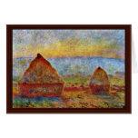 Haystack de Claude Monet Tarjeta