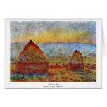 Haystack de Claude Monet Tarjeton