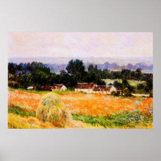 Haystack en Giverny, 1886 Póster
