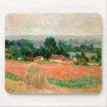 Haystack en Giverny, Claude Monet Alfombrillas De Raton