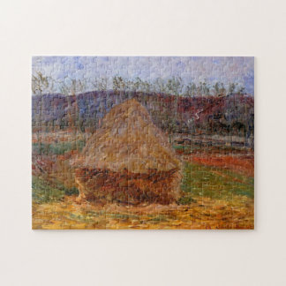 Haystack in Giverny Monet Fine Art Jigsaw Puzzle