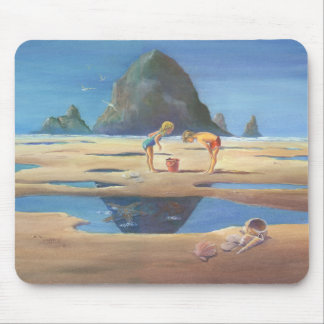 HAYSTACK ROCK 2 by SHARON SHARPE Mouse Pad
