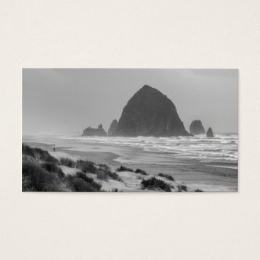 Beach Themed Haystack Rock at Cannon Beach Business Card