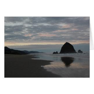 Haystack Rock at Cannon Beach Card