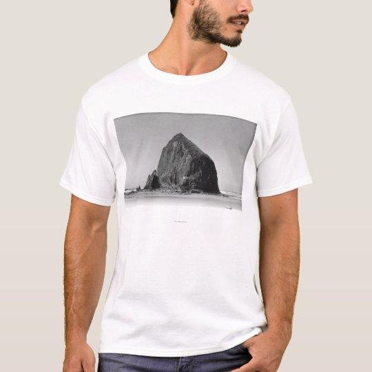 Haystack Rock at Cannon Beach, Oregon Photograph T-Shirt