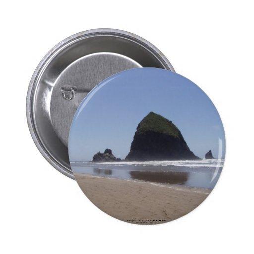 Haystack Rock Pinback Buttons