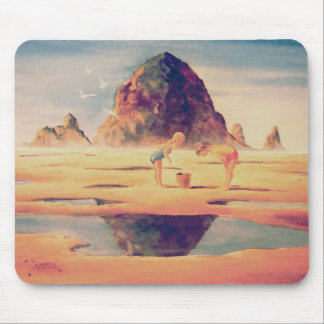 HAYSTACK ROCK by SHARON SHARPE Mouse Pad