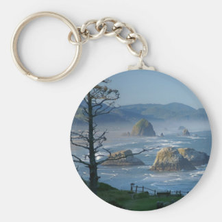 Haystack Rock, Cannon Beach, Oregon Keychain