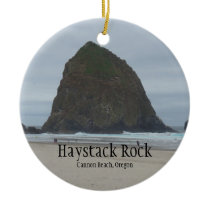 Haystack Rock Cannon Beach Oregon Ornament