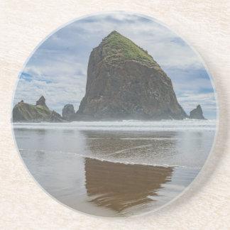 Haystack Rock, Cannon Beach, Oregon Sandstone Coaster