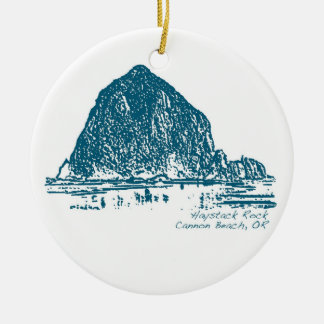 Haystack Rock Christmas Ornament