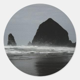 Haystack Rock Classic Round Sticker