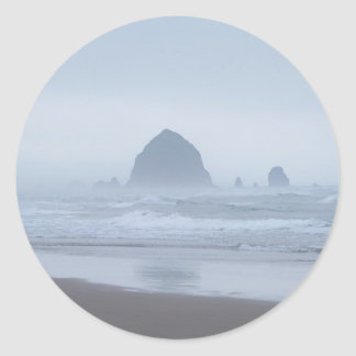 Haystack Rock General products Classic Round Sticker
