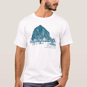 Haystack Rock Illustration T-Shirt