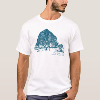 Haystack Rock Illustration T-Shirt