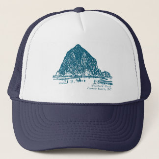 Haystack Rock Illustration Trucker Hat