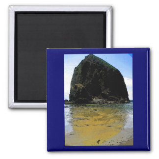 Haystack Rock Oil Painting Refrigerator Magnets