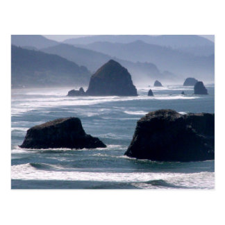 Haystack Rock Pacific Ocean Oregon Coast Postcard