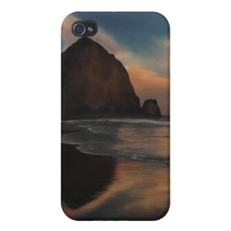 Haystack Rock Painting Covers For iPhone 4