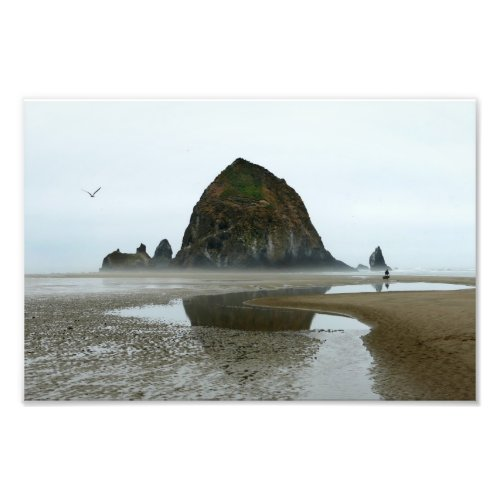 Haystack Rock Reflection, Cannon Beach, Oregon Photo Print