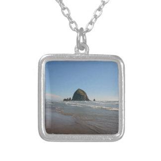 Haystack Rock Square Pendant Necklace