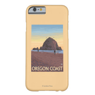 Haystack Rock Vintage Travel Poster Barely There iPhone 6 Case