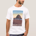 Haystack Rock Vintage Travel Poster T-Shirt