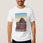 Haystack Rock Vintage Travel Poster Tee Shirt