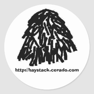 haystack sticker, large classic round sticker