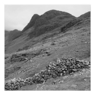 Haystacks and Dry Stone Wall Poster