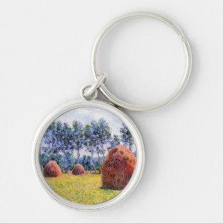 Haystacks at Giverny - Claude Monet Keychain