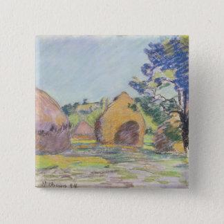 Haystacks at Saint-Cheron Pinback Button